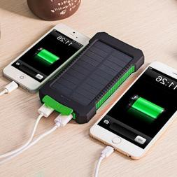 Universal 50000mAh Solar Power Bank LED Portable External Ba