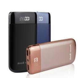 50000mah LCD Power Bank Dual USB LED Battery Pack Charger Fo