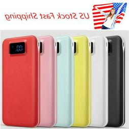 US 50000mAh 2USB Fast Charge External Battery Charger Power