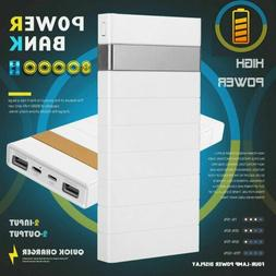 US 80000mAh Power Bank 2 USB Portable Battery Charger For Ce