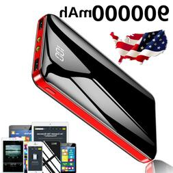 US 900000mAh Portable Power Bank Dual USB Pack Battery Charg