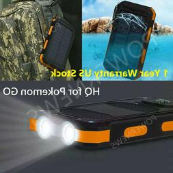 USA Waterproof 900000mAh 2 USB Portable Solar Battery Charge