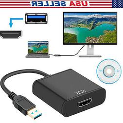 USB 3.0 to HDMI Audio Video Adaptor Converter Cable 1080P fo
