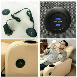USB Charger For Table Sofa Dual USB Desktop Accessories Rest
