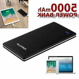 USB Outputs Super Slim Power Bank Ultra Thin, 5000mAh Mini P