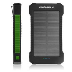 100000mAh 2USB Solar Power Bank Pack External Battery Charge