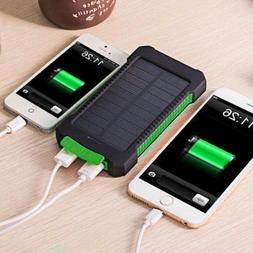 Waterproof 50000mAh Solar Power Bank Battery Charger For iPh