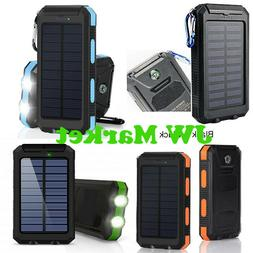 2020 Waterproof 900000 mAh Dual USB Portable Solar Power Ban