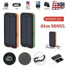 waterproof powerbank solar power bank 20000mah dual