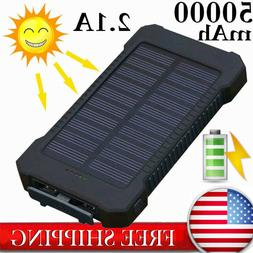 Waterproof Solar Charger 50000mAh Power Bank Fast Charging D