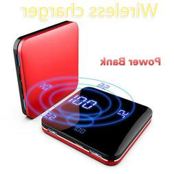 Wireless Charger Mirror Digital Display Portable Mini Fast C