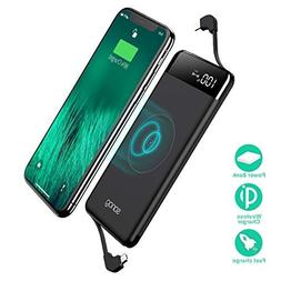 SANAG Wireless Portable Charger,10000mAh Wireless Charger Po