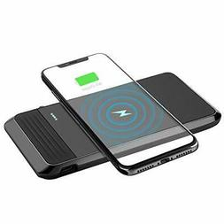 Wireless Portable Charger, AIRGINE QI Wireless Power Bank wi